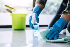 How do you kill germs on the floor?