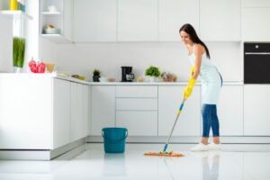 How can I disinfect my floors naturally?