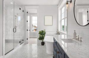 How do you disinfect a bathroom?