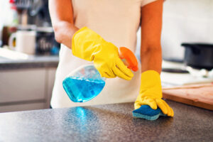 How do you sanitize your house after being sick