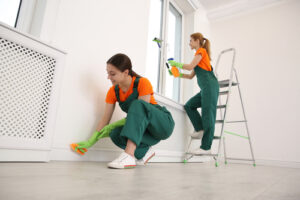 How do you deep clean a house fast before moving in