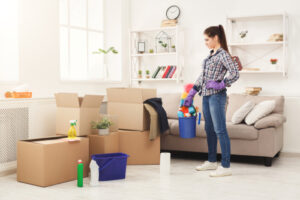 What is the first thing to do when moving into a new house