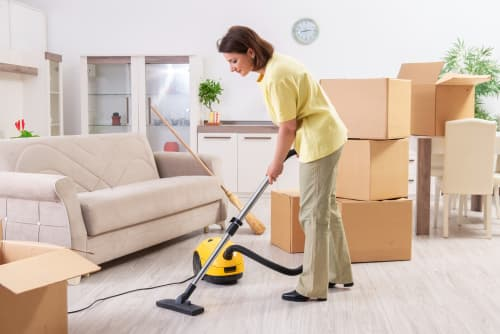 What should you clean before moving out